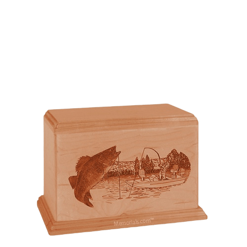 Walleye Small Cherry Wood Urn