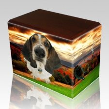 Autumn Walnut Pet Picture Urn II