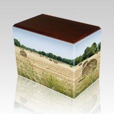 Bailing Hay Walnut Child Cremation Urn