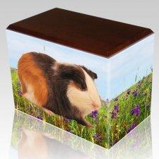 Field of Violets Walnut Pet Picture Urn III