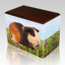 Field of Violets Walnut Pet Picture Urn II