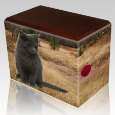 Hunting Ground Pet Picture Walnut Urns