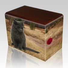 Hunting Ground Walnut Pet Picture Urn II