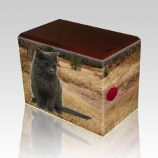 Hunting Ground Walnut Pet Picture Urn