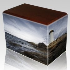 Lighthouse Walnut Child Cremation Urn III