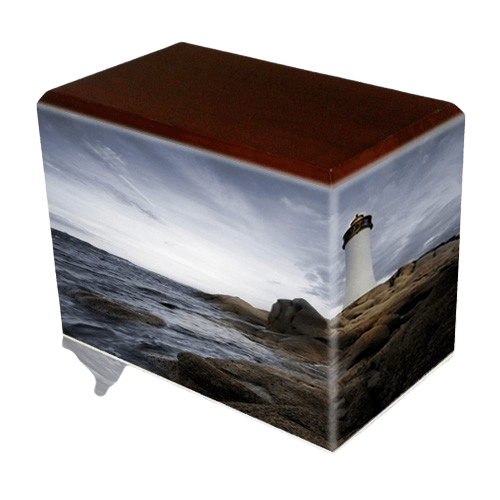 Lighthouse Walnut Child Cremation Urn II