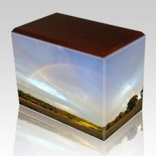 Rainbow Walnut Child Cremation Urn II