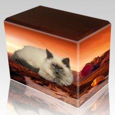 Southwest Walnut Pet Picture Urn III