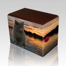 Swimming Hole Walnut Pet Picture Urn