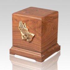 Praying Hands Children Walnut Cremation Urn