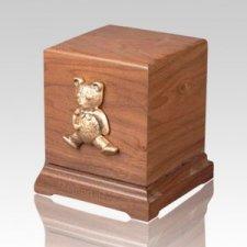 Teddy Bear Children Walnut Cremation Urn