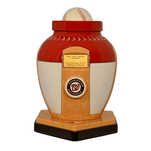 Washington Nationals Baseball Cremation Urn