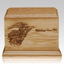 Watching Over You Walnut Wood Urn