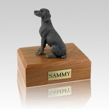 Weimaraner Gray Large Dog Urn
