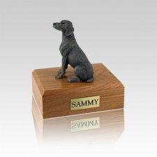 Weimaraner Gray Small Dog Urn