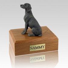 Weimaraner Gray X Large Dog Urn