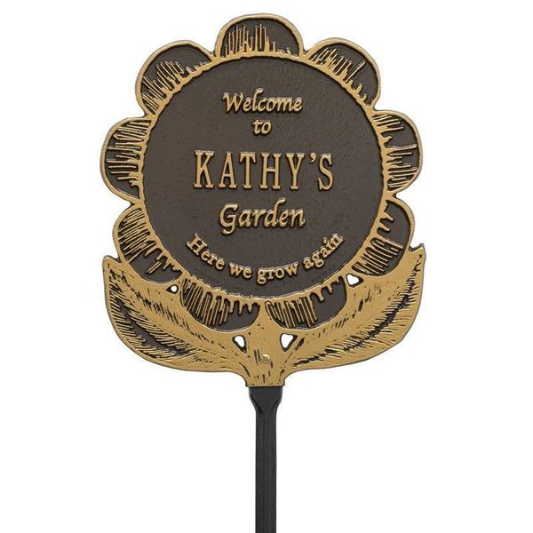 Welcome Garden Flower Dedication Plaques