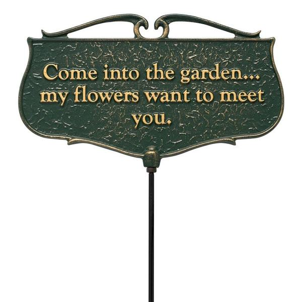 Welcome To The Garden Dedication Plaque