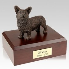 Welsh Corgi Bronze Dog Urns