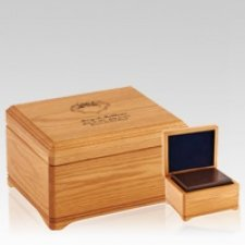 Westhampton Oak Wood Cremation Urns