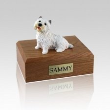 Westie Sitting Small Dog Urn