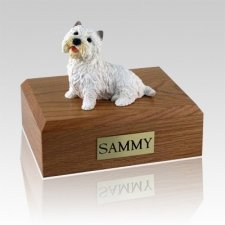 Westie Sitting Dog Urns