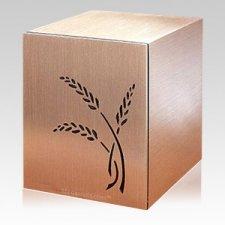 Wheat Bronze Cremation Urn