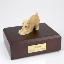Wheaten Soft Coated Playing Dog Urns