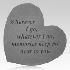 Wherever I Go Heart Stone
