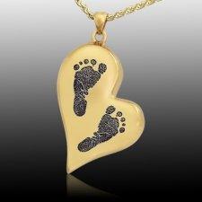 Whimsical Heart 14k Gold Cremation Print Keepsake