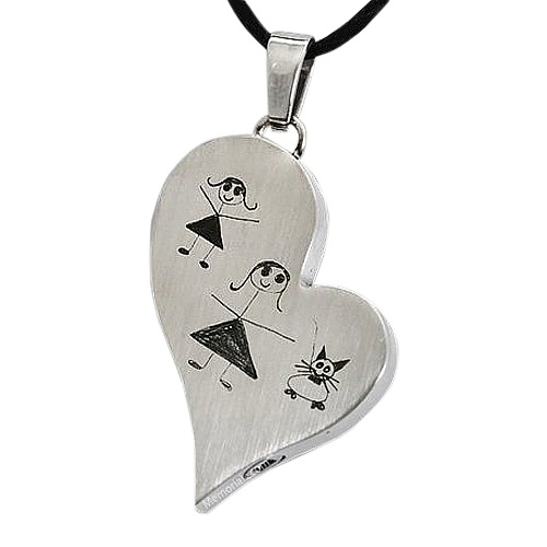 Whimsy Heart Cremation Pendant
