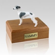 Whippet White & Spot Dog Urns