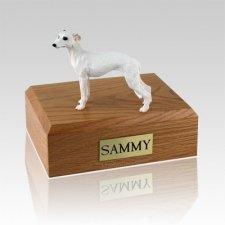 Whippet White X Large Dog Urn