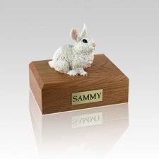 White Small Rabbit Cremation Urn