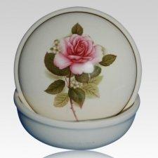 White Ceramic Keepsake Urn