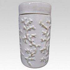 White Coral Ceramic Urn