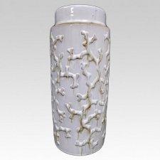 White Coral Companion Ceramic Urn