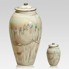 White Gold Ceramic Cremation Urns