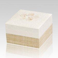 White Hemp Medium Biodegradable Urn