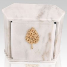 White Hexagon Silver Urn For Two