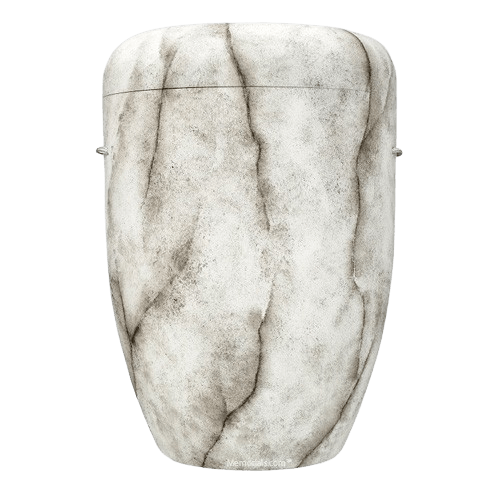 White Marble Biodegradable Urn