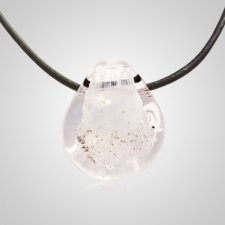 White Memorial Jewelry Pendant