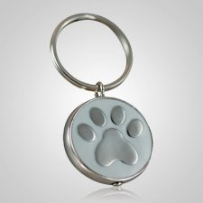 White Paw Keychain Keepsake