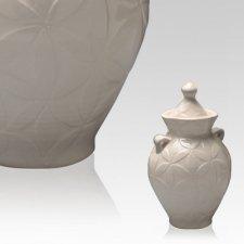 White Dream Mini Cremation Urn