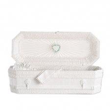 White Ray Mini Child Casket