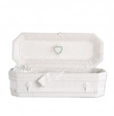 White Ray Small Child Casket