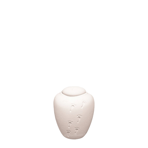 White Sand Biodegradable Small Urn