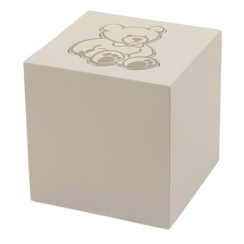 White Teddy Bear Child Urn