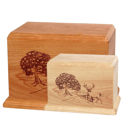 Whitetail Wood Urns
