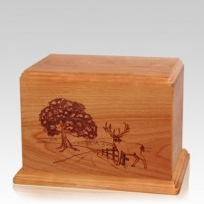 Whitetail Individual Cherry Wood Urn